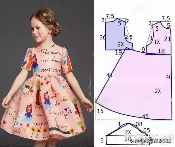 25款童装连衣裙裁剪纸样图