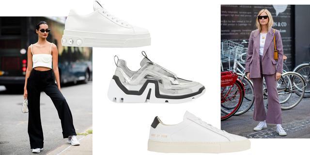 穿运动鞋跑进职场,是时装精给予我们的潮人灵感,3种搭配正流行