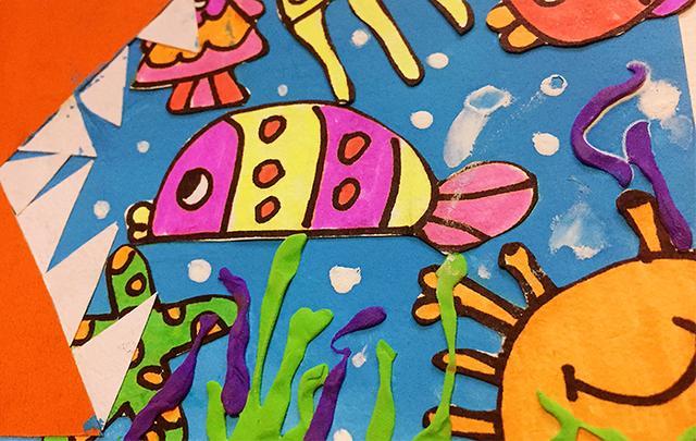 大鱼吃小鱼儿童画_可可简笔画