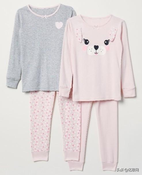 儿童睡衣的简易裁剪图