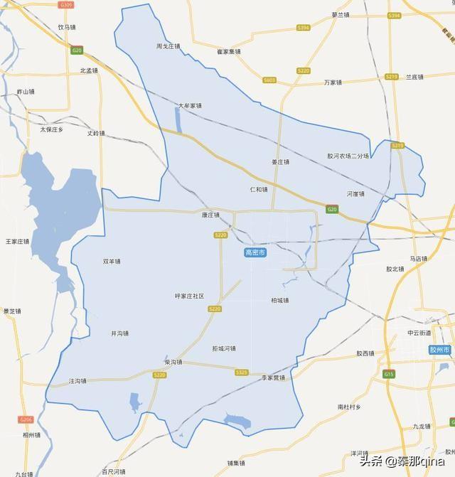 山东潍坊高密市----地名源于大禹,莫言故里