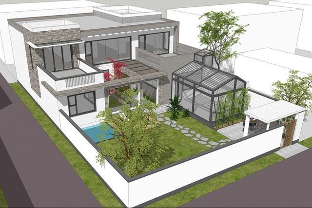 农村二层80别墅设计图