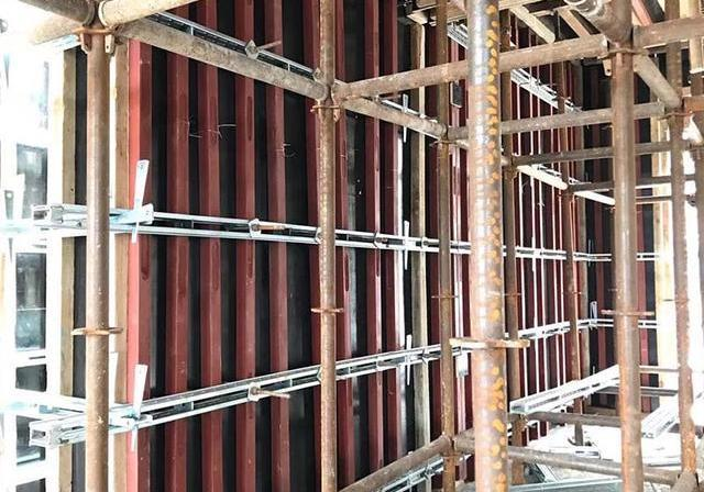 新型环保建材剪力墙钢背楞支撑体系