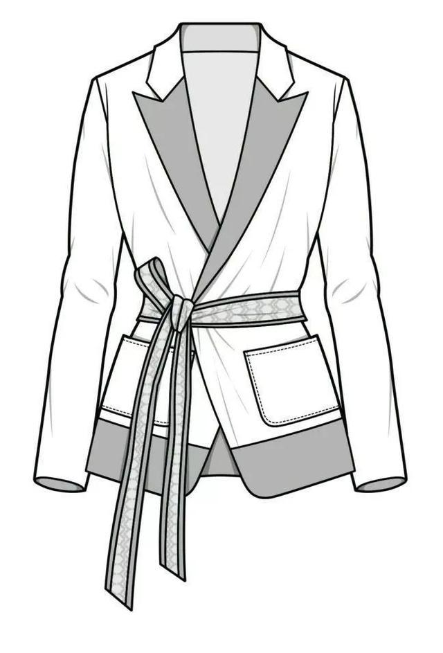 男士夹克衫款式图