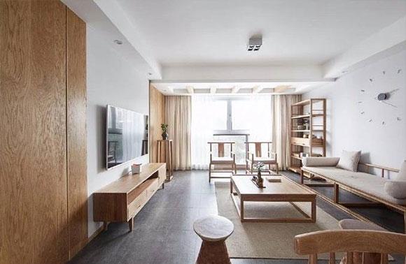 110平方日式装修风格效果图欣赏,原木风让人忍不... _装修之家网