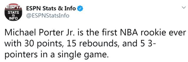 一戰創五項紀錄!小波特30+15再爆發,主帥:在逗我?他竟然沒入選新秀賽!(影)-黑特籃球-NBA新聞影音圖片分享社區