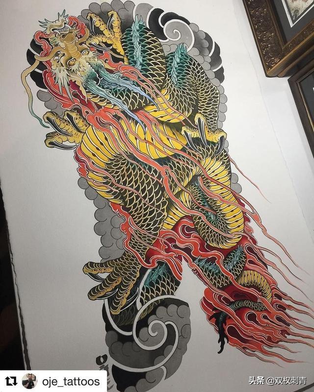 龙纹身图案