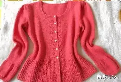 棒针毛衣编织款式开衫