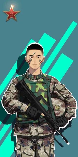 中国军人头像霸气十足