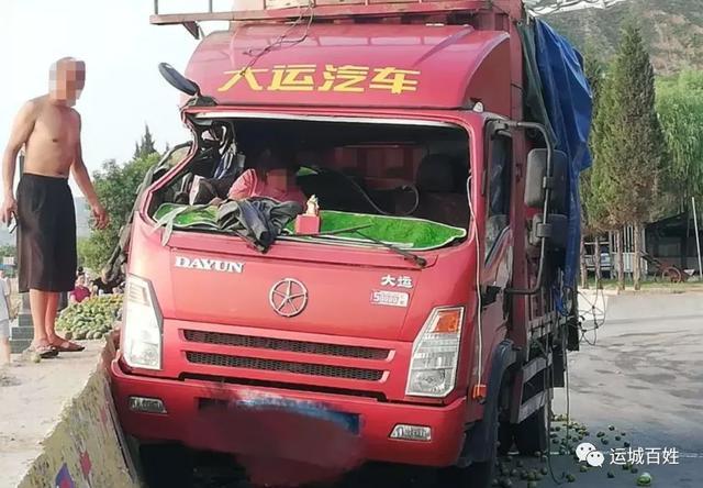 运城临猗吴王古渡发生一起车祸