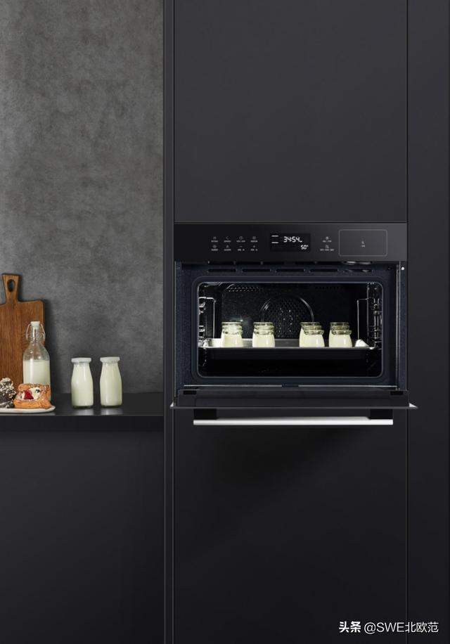 厨房烤箱微波炉放置图
