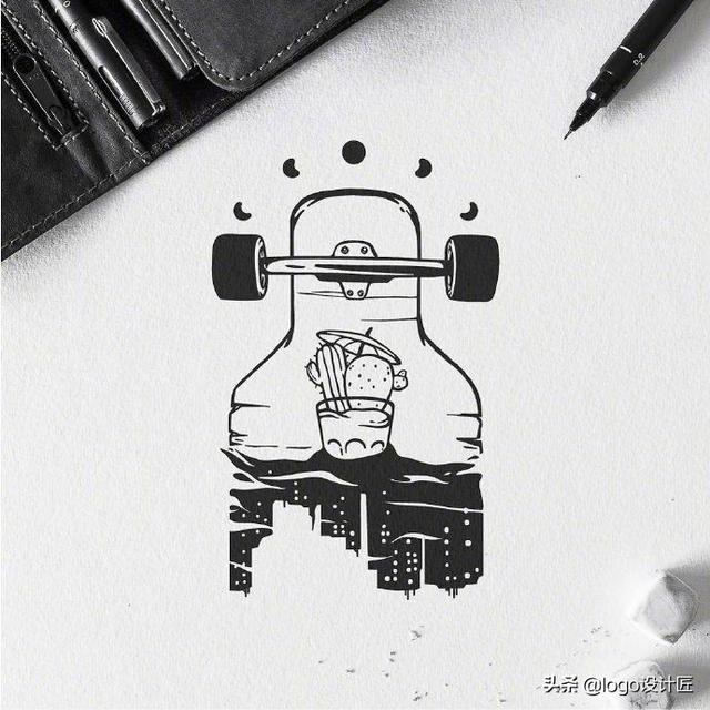 手绘卡通创意画设计图__风景漫画_动漫动画_... _昵图网nipic.com