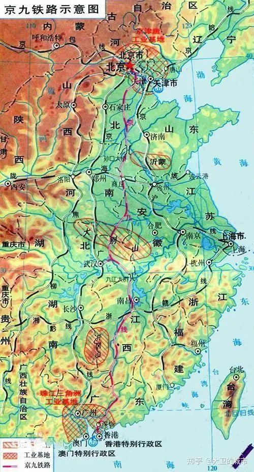 京九高铁湖北段线路图