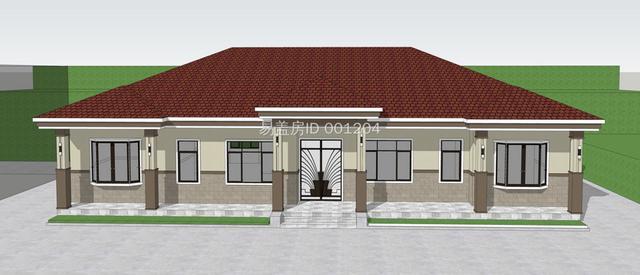 2020农村小别墅,漂亮的一层平房平面图与全套施工图纸,户型周正