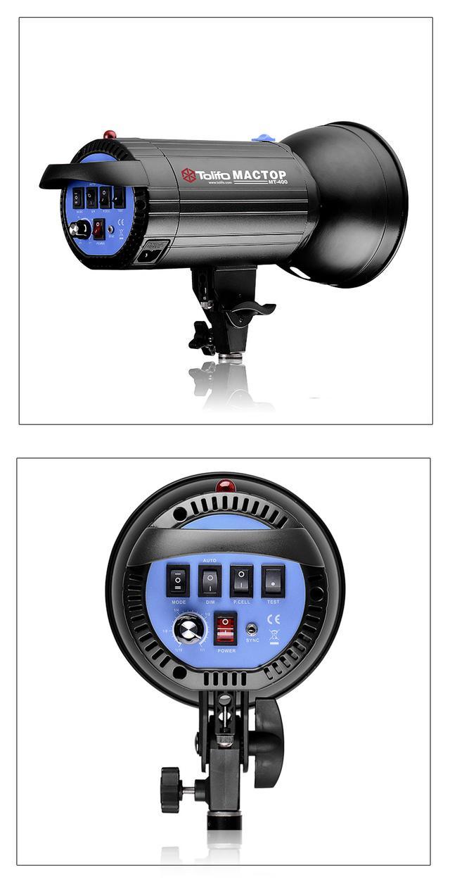 摄影灯400W影室闪光灯补光灯照相灯套装人像服装珠宝摄影棚打光灯