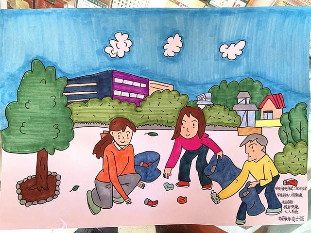 画家仇立权的健康卫生主题水墨画
