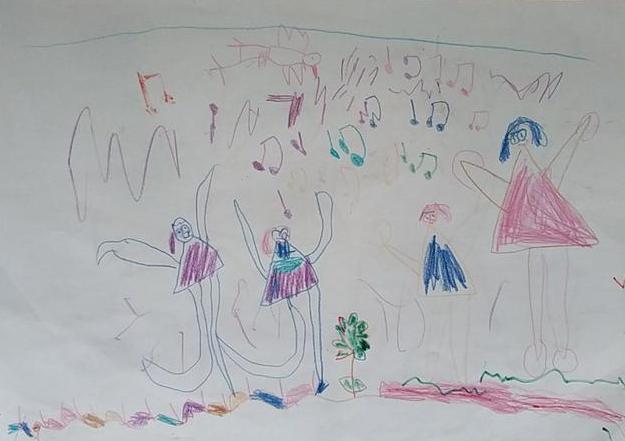 四岁画画作品图片大全