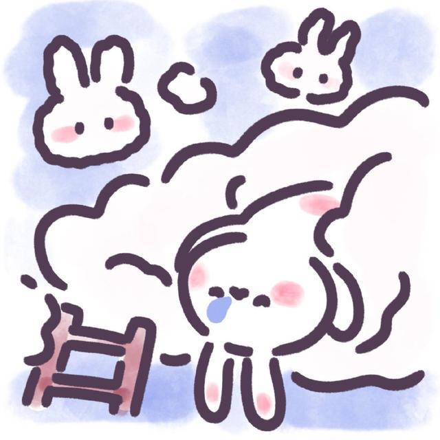 【可爱卡通手绘兔子头像】从明天开始 迎接你的只有好消息魔方甜