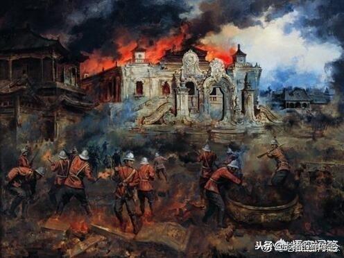 八国联军把京郊的圆明园烧了,而皇宫紫禁城却安然无恙究竟为何?