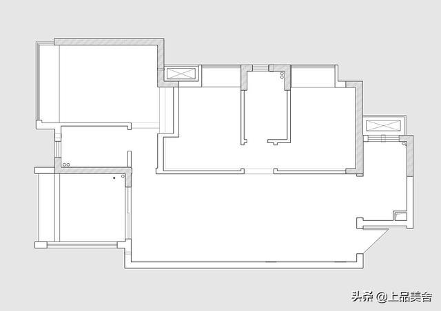 很经典耐看的美式田园风,主卧室的床很好看,102平米三房设计