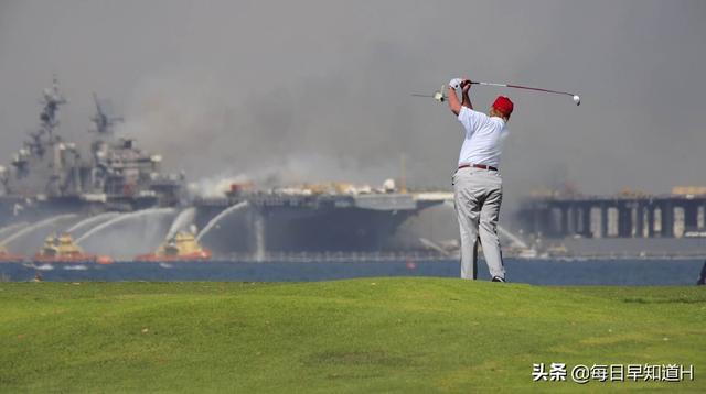 美军准航母烧得正旺,除了隔岸观火,我们还需看到暴露出来的本质