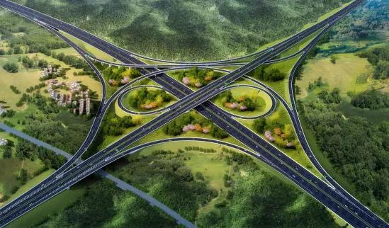 大塘到浦北高速线路图