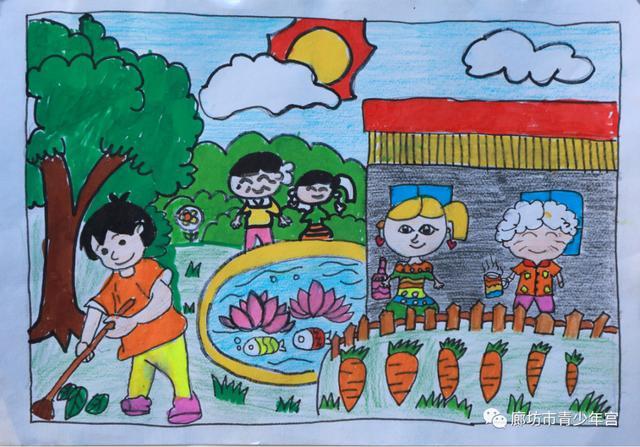 """廊坊市青少年宫 """"我的文明成长日记""""主题活动优秀作品展示 ——绘画作品1"""