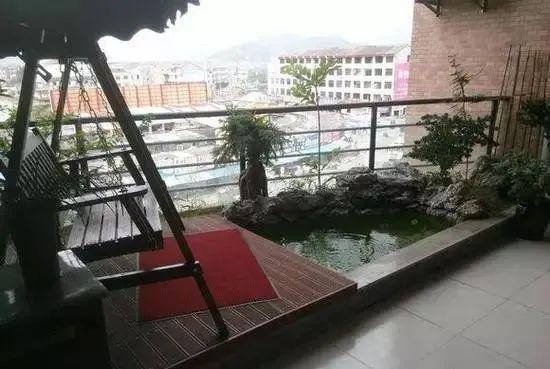阳台鱼池假山图片大全