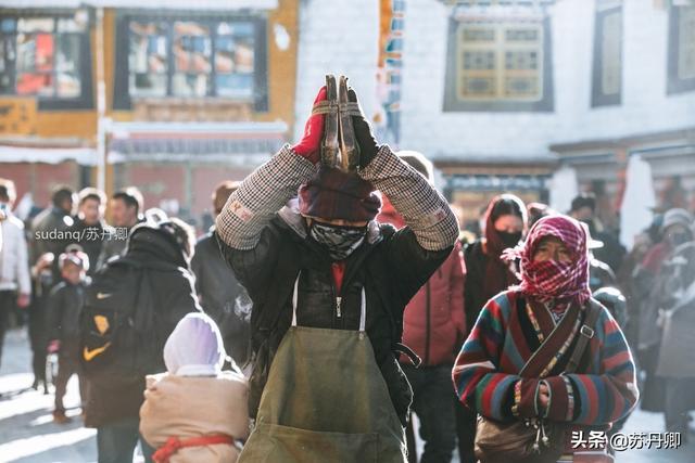 西藏朝圣图片