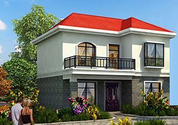 15万80平米农村二层自建别墅设计图,带有三张不同外观图和实景图