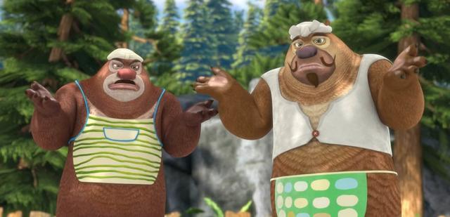 """《熊出没》中的""""摊手王"""",熊大熊二有默契,赵琳要不要这么可爱"""