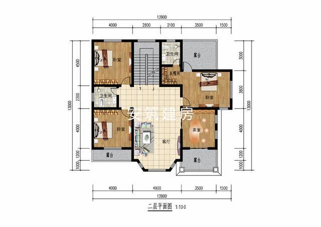13×13米的2层简约风小别墅,你买房倾家荡产,我建房全家受益
