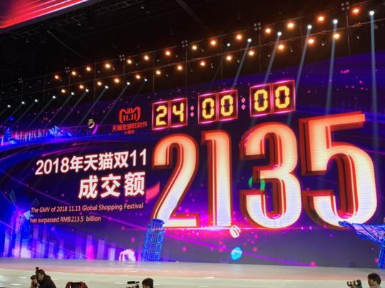再创新高!2019天猫双11成交额达到2684亿,比去年增加了549亿