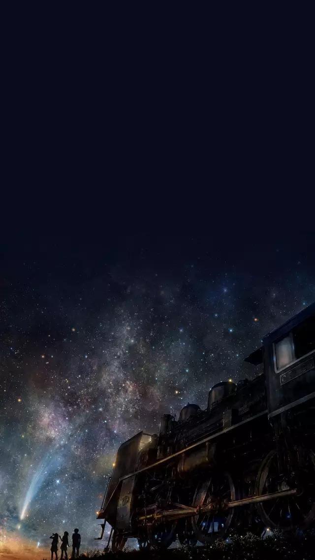 黑色星空主题手机壁纸