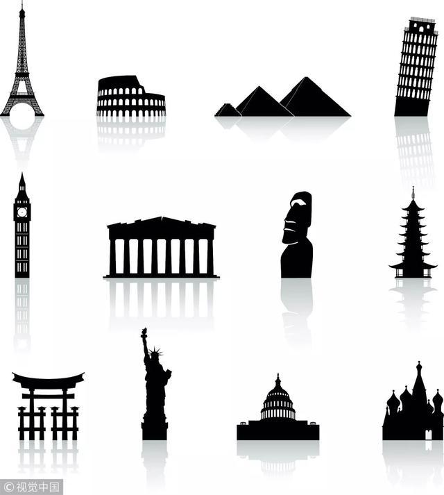 巴黎铁塔和鸽子