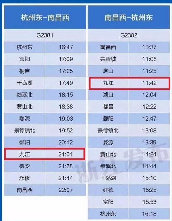 重庆到九江高铁