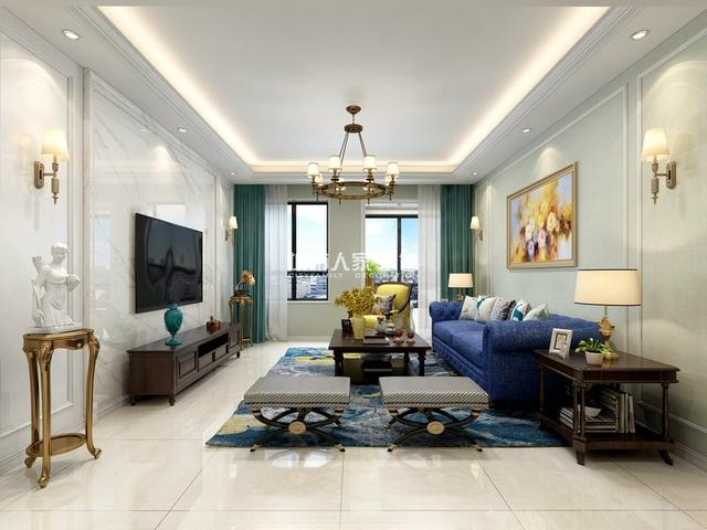 130平米的美式风格,原来四居室还可以这样装修!-保利心语花园装修