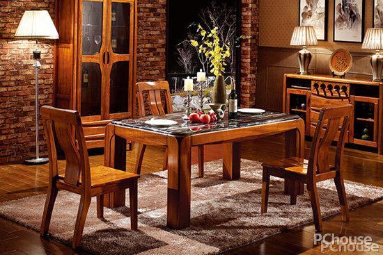 新中式实木餐桌椅组合现代中式长方形餐厅小户型家用饭桌定制家具