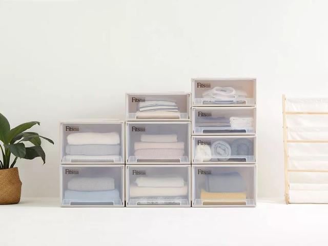 Tenma日本天马株式会社透明抽屉式收纳箱桌面收纳盒衣柜... -京东
