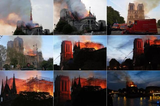 巴黎圣母院失火耶稣