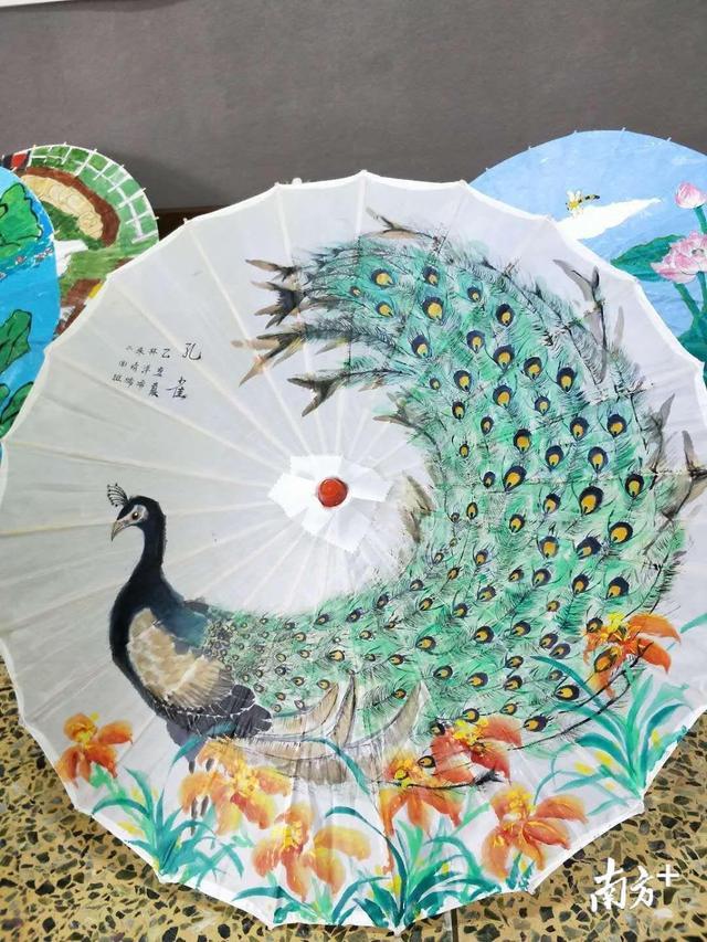 小纸伞绘画图案