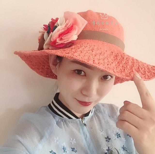 夏日度假风手工帽:女士钩针棉草淑女帽(附图解))