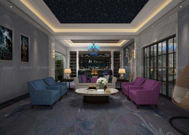 美式风格五居室热门案例,380平米的房子这样装才阔气!-金澄美墅馆装修