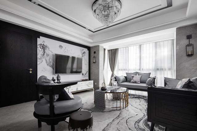 别墅豪宅380平米现代简约装修案例_效果图 - 北京西... - 设计本