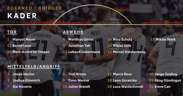 德国队公布球员号码:新晋国脚瓦尔德施密特19号|德国|弗赖堡|...