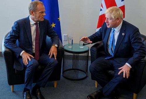 英國示威者反對脫歐