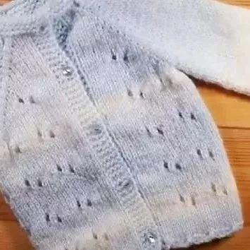 百搭休闲款儿童套头毛衣针织,附织法过程和口袋缝合