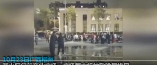 警务人员制止广场噪音被打_新浪图片