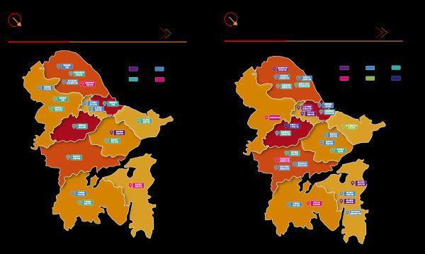 卫星图看浙江省宁波市,山水相依的海港城市
