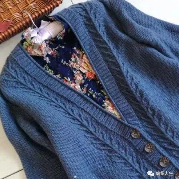 毛衣开衫编织款式图片